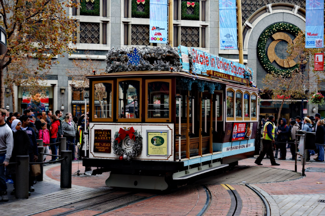 Historic Wooden Trolly, San Francisco