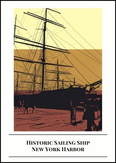 Historic Sailing Ship,New York Harbor
